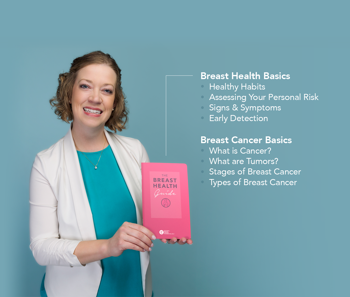 Get a free Breast Health Guide, which explains the basics of breast cancer and healthy habits that can reduce your risk.