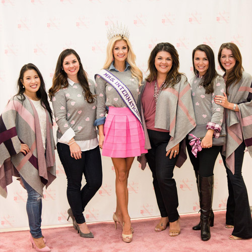 Women at Talbots celebrate the success of a National Breast Cancer Foundation corporate sponsorship campaign.